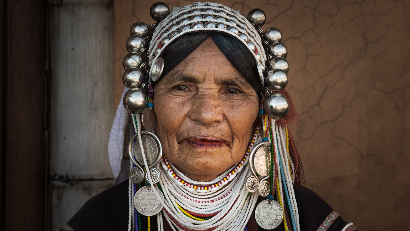 Akha hilltribe woman, Mae Salong, Thailand